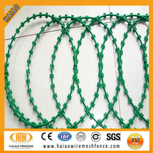 Bluk price hot dipped galvanized razor wire flat wrap