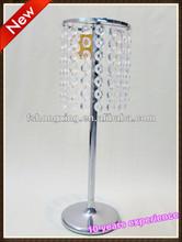 Elegant silver wedding centerpiece decoration for road lead vase