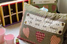 ZAKKA grocery idyllic Scottish style plaid pillow cushion into 4 buttons E0357