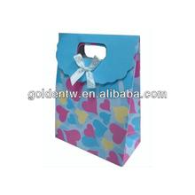 Hot sell customized logo fashion small gift bags purple