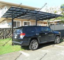 Plycarbonate aluminum car shelter design for carport