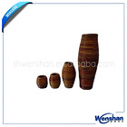 rattan wicker vase for home decoration