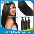 produits de cheveux droits remy vierges des Indiens ou de cheveux longs à fins de nature avec une longueur de haute qualité