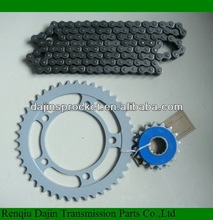 Dajin 1045 steel sprocket motorcycle/motorcycle parts chain sprocket
