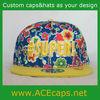 custom hawaii floral printing snapback cap