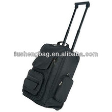 New Black Luggage Carry On Travel Bag With 2 Wheels