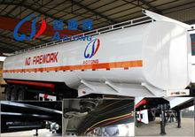 Hot sale 43.6CBM fuel tank semi trailer, tanker trailer for sale