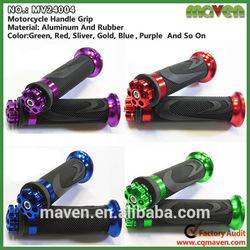 Hot Sale Soft Rubber CNC Aluminum Motorcycle Handle Bar Grip Manufacturer MV24004