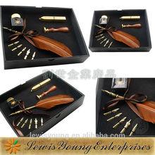Turkey feather quill pen set, Turkey Feather Ball Pen