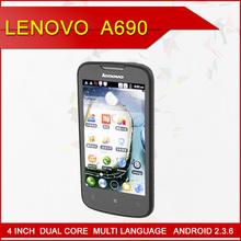 cheap original cell phone brand Lenovo A690 white phone make in china