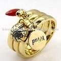 Top qualidade baixo MOQ Siam vidro empilhável anel