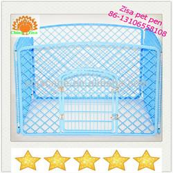 bule plastic puppy pet dog cage /pen