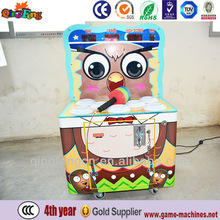 Qingfeng mini hit game amusement ticket vending machine coin operated lottery machine for sale