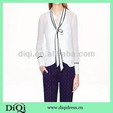 ladies office uniform women blouse in chiffon 2014