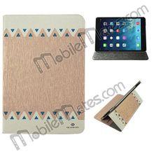 GearMax Ultra-thin Silk Pattern Flip Stand Leather Case for iPad Mini 2 Retina/iPad Mini
