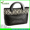 Extra Large Seagrass Straw Bag Bag Fabric Rope Handle Bag