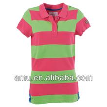 Cheap promotional 2014 top Fashion girls T shirt red t shirts
