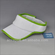 fashion white blank cotton sun visor cap