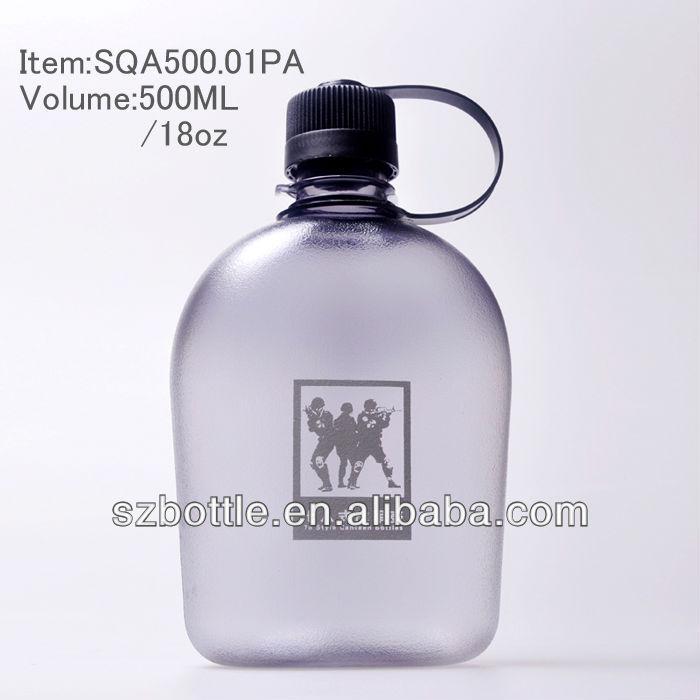 Plástico cantina / garrafa de água com 1000 ml, 900 ml, 700 ml, 650 ml, 500 ml