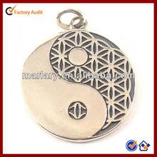 Beautiful Stainless Steel Yin Yang Flower of Life Pendant Jewelry