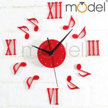 Acrylic Wall Clock Gifts/Wedding Gifts Wall Clocks/Red Music Notes Wall Clocks