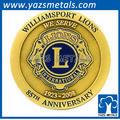 aniversario de metal de la moneda de oro diseñado con precio de fábrica
