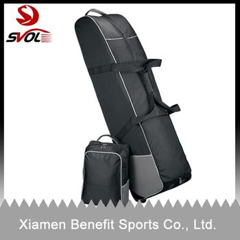Golf bag travel cover with detachable shoe pocket
