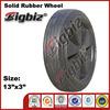 "Super high quality 13"" solid inch rubber garden cart wheels"
