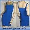 Style Number W350 Ladies Latest Fashion Frocks Design , blue strap bandage dress