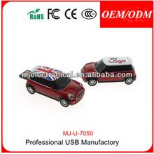 1gb 2gb 4gb 8gb 16gb 32gb black mini cooper red car USB Flash Drive Promotion Gift , Customize Logo MJ-U-7050