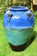 Tall outdoor glazed jars - Tall temple jar - Green glazed planter & pot - Vietnam pottery Manufacturer & Supplier, Exporter GOL