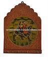 Indiano antigo decoração da parede de madeira feitos à mão titular chave pintado