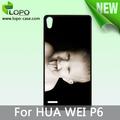 sublimación en blanco cubierta del teléfono celular caso para huawei p6