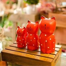 Japanese and Korean style animal cat handmade ornaments Creative fresh wood crafts Taobao hot models C1422