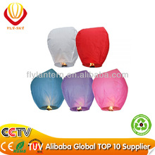 2014 Hot Sale Wish Lantern balloon with CE Certificate for wedding docoration