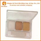 3 Colors Eyeshadow Pallete In Square Transparent Container eyeshadow private label cosmetics