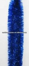 Hot sale Blue Genaral PET Xmas tinsel,Xmas tinsel supplier