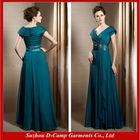 ME-266 Designer mother of the bride dresses 2014 mother of bride long chiffon dresses teal color mother of bride dress