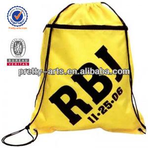 hot popular high quality promotional drawstring backpack bag
