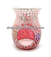 Beautiful Mosaic Glass Incense Burner/Candle Holder