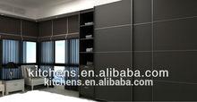 modern black melamine MDF cheap wardrobe closet Agw-002