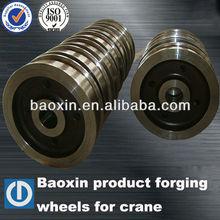 large orders steel wheels,forging wheels for hoisting machine,baoxin steel wheels