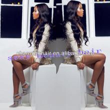 2014 Fashion Long Wavy Human Hair Wig For Black Women Brazilian Loose Wave Full Lace Wig with Bleached Knots Brazilian Hair