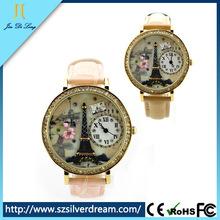 2014 оптовая продажа моде красивый сапфировое стекло часы онлайн