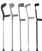 Folding elbow crutches