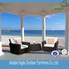 UV resistant PE rattan furniture, 3pcs garden furniture sofa &table