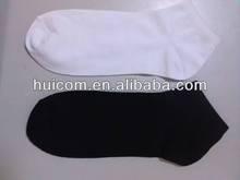 ankle white & black socks