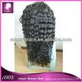 100% humano virgem cabelo swiss lace onda profunda brasileira do cabelo de remy barato longa peruca de cabelo encaracolado