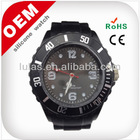 Silicone colorful watch 2014 new watch lady promotional gift vogue watch black