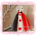 de color rojo y blanco y negro de flores niña vestido de correa